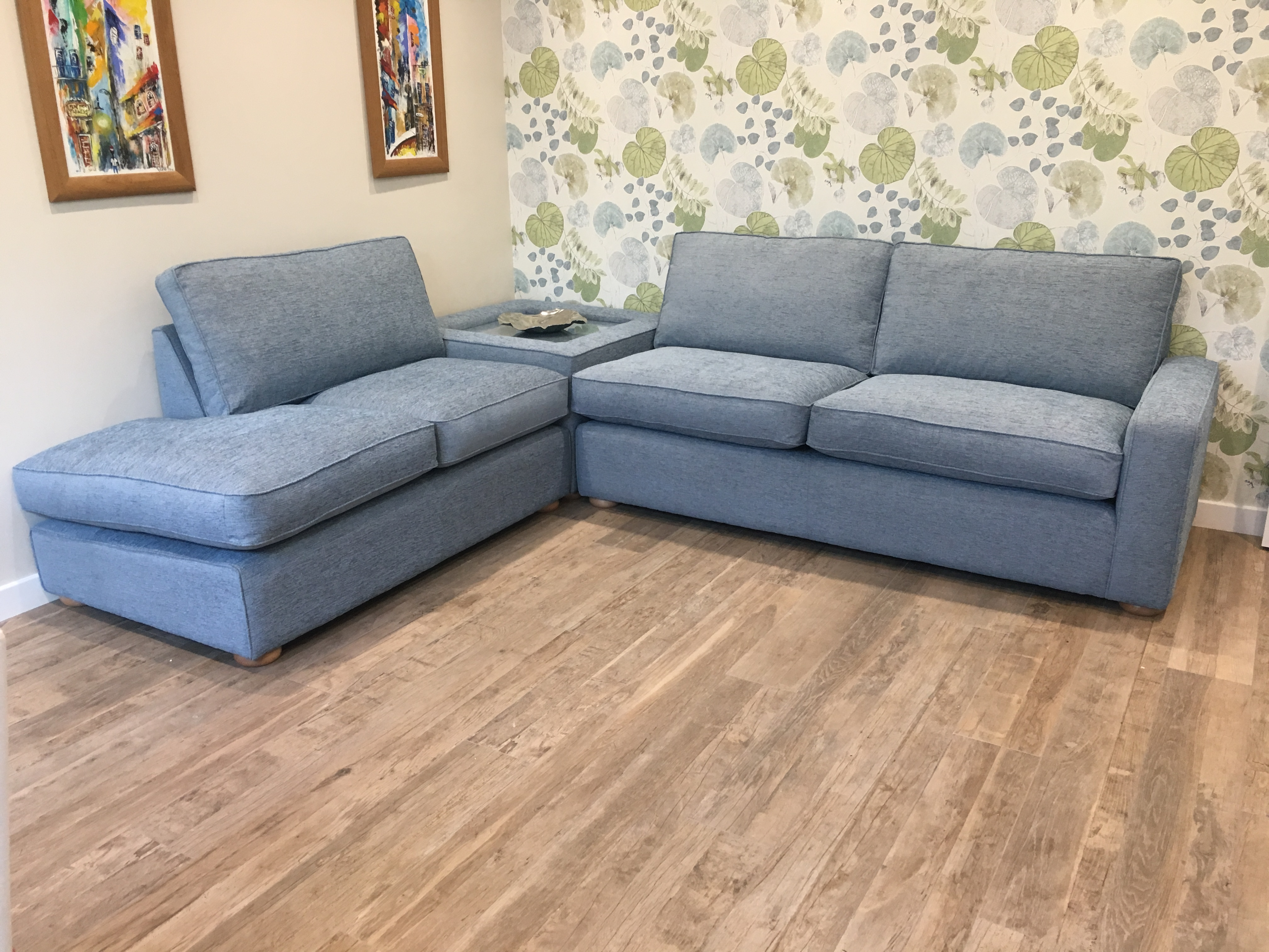 Cambridge Corner Sofa With Corner Table Tailor Made Sofas